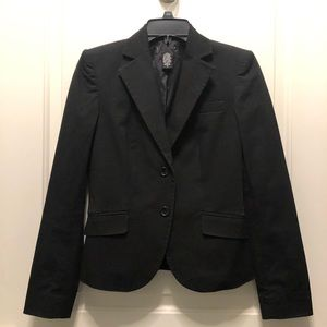 Gap Black Two Button Cotton Blazer Suit Jacket 0